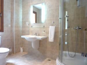 An en-suite shower room